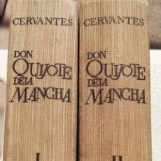 Libros de segunda mano: DON QUIJOTE DE LA MANCHA MIGUEL DE CERVANTES EDICIONES GINER 1966,DOS TOMOS ILUSTRADOS. Lote 159639660