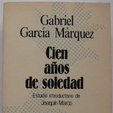Libros de segunda mano: CIEN AÑOS DE SOLEDAD. GABRIEL GARCIA MARQUEZ. Lote 159703794
