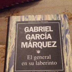 Libros de segunda mano: EL GENERAL EN EL LABERINTO - TAPA DURA. Lote 160461878
