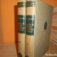 Libri di seconda mano: ANTOLOGIA DE CUENTOS DE MISTERIO Y TERROR / EDITORIAL LABOR 1958 / 2 TOMOS. Lote 160557446