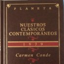 Libros de segunda mano: CRECIÓ ESPESA LA YERBA. CARMEN CONDE. Lote 160655438