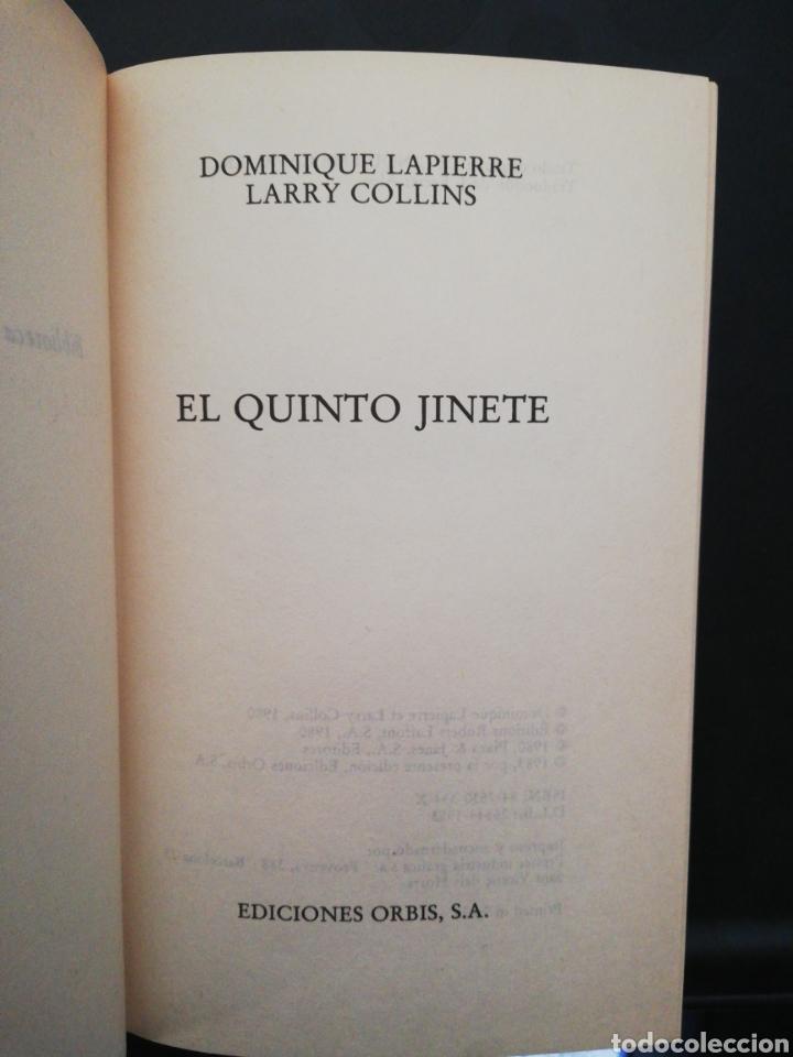 Libros de segunda mano: El quinto jinete, Dominique lapierre y Larry Collins .Biblioteca grandes éxitos - Foto 2 - 160682742