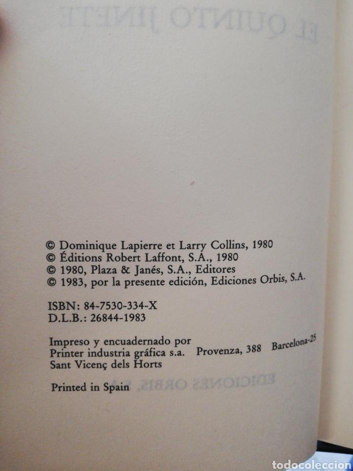Libros de segunda mano: El quinto jinete, Dominique lapierre y Larry Collins .Biblioteca grandes éxitos - Foto 3 - 160682742