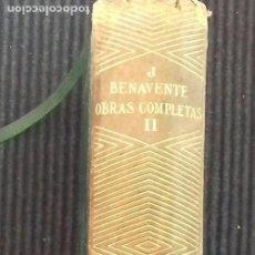 Libros de segunda mano: OBRAS COMPLETAS. JACINTO BENAVENTE. AGUILAR 1940. TOMO II. 1190 PAGS. PIEL. PAPEL BIBLIA.. Lote 160746478