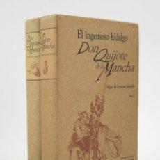 Libros de segunda mano: DON QUIJOTE DE LA MANCHA, CERVANTES, 1995, 2 VOL, EDICIÓN FACSÍMIL IGNACIO CUMPLIDO 1842, MÉXICO.. Lote 161212874