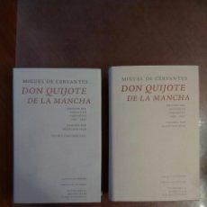 Libros de segunda mano: MIGUEL DE CERVANTES. DON QUIJOTE DE LA MANCHA 2 TOMOS. EDICIÓN FRANCISCO RICO. Lote 161875610