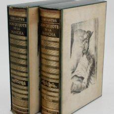 Libros de segunda mano: EL INGENIOSO HIDALGO DON QUIJOTE DE LA MANCHA, 1958, ED. JUVENTUD, 2 TOMOS, BARCELONA. 26X20CM. Lote 162004502