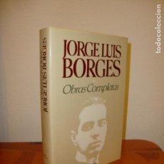 Libros de segunda mano: OBRAS COMPLETAS, I. 1923-1949 - JORGE LUIS BORGES - EMECÉ, PERFECTO ESTADO. Lote 162509246