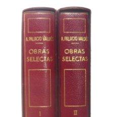Libros de segunda mano: 1963 - ARMANDO PALACIO VALDÉS: OBRAS SELECTAS - 2 TOMOS - 1ª ED. - PLENA PIEL, PAPEL BIBLIA, ESTUCHE. Lote 162707270