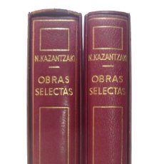 Libros de segunda mano: 1960 - NIKOS KAZANTZAKI: OBRAS SELECTAS - 2 TOMOS - 1ª EDICIÓN - PLENA PIEL, PAPEL BIBLIA, ESTUCHE. Lote 162707626