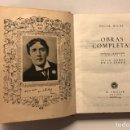 Libros de segunda mano: OSCAR WILDE. OBRAS COMPLETAS. MADRID, EDITORIAL AGUILAR, 1945. PRIMERA EDICIÓN, EXCELENTE ESTADO.. Lote 164682388