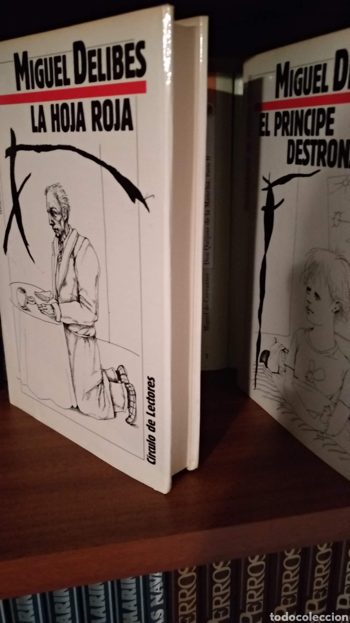 Libros de segunda mano: LA HOJA ROJA y EL PRÍNCIPE DESTRONADO. MIGUEL DELIBES - Foto 2 - 166029958
