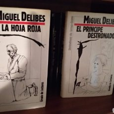 Libros de segunda mano: LA HOJA ROJA Y EL PRÍNCIPE DESTRONADO. MIGUEL DELIBES. Lote 166029958