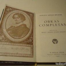 Libros de segunda mano: LIBRO. OBRAS COMPLETAS DE GUSTAVO ADOLFO BÉCQUER. AGUILAR EDITOR,1937.. Lote 166067354