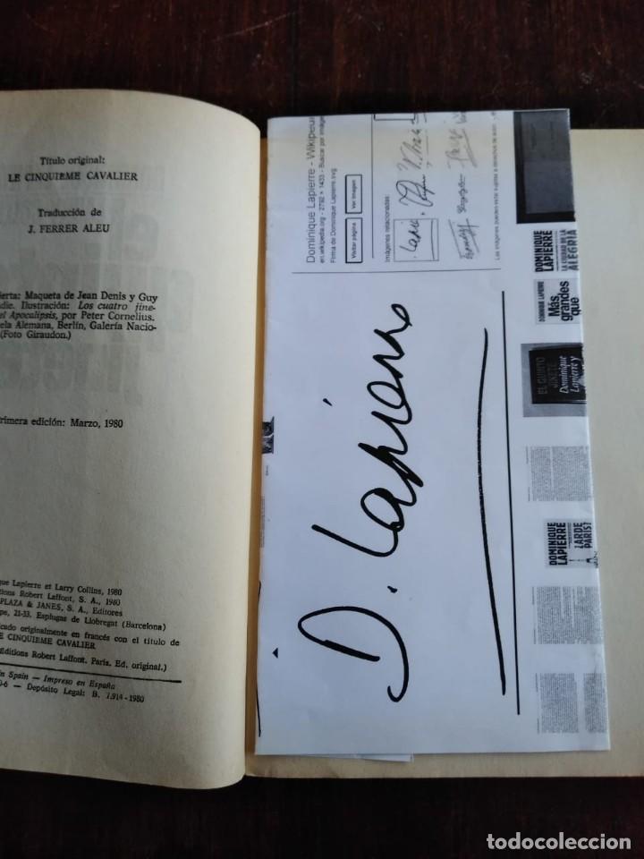 Libros de segunda mano: El quinto jinete libro firmado por su autor Dominique Lapierre - Foto 3 - 166801882