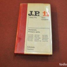 Libros de segunda mano: OBRA COMPLETA JOSEP PLA VOLUM 11 - HOMENOTS PRIMERA SÈRIE - 1ª EDICIÓ 1969 - CLB. Lote 166983932