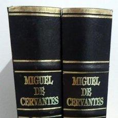 Libros de segunda mano: EL INGENIOSO HIDALGO DON QUIJOTE DE LA MANCHA MIGUEL DE CERVANTES TOMOS 1 Y 2 . Lote 167984640