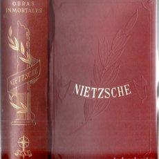 Libros de segunda mano: INMORTALES EDAF : NIETZSCHE (1968). Lote 168024860