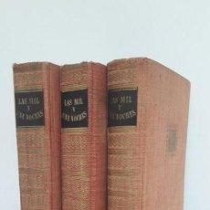 Libros de segunda mano: LAS MIL Y UNA NOCHES. 3 TOMOS EDITORIAL IBERIA, 1956.. Lote 168237344