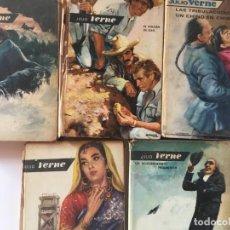 Libros de segunda mano: RAREZA 6 TOMOS JULIO VERNE EDITORIAL MOLINO AÑOS 60 - RAYO VERDE DESCUBRIMIENTO PRODIGIOSO VOLCÁN DE. Lote 168616860