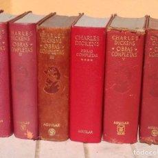 Libros de segunda mano: CHARLES DICKENS: OBRAS COMPLETAS. 6 VOLÚMENES. AGUILAR. Lote 168759092