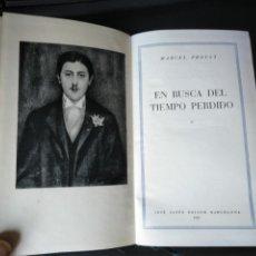 Libros de segunda mano: OBRAS COMPLETAS TOMO I. EN BUSCA DEL TIEMPO PERDIDO. MARCEL PROUST. JOSE JANES 1952 1 EDICIÓN. Lote 168796545