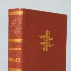 Livres d'occasion: 1965.- OBRAS. MAQUIAVELO. VERGARA. Lote 168969044