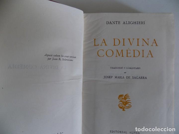 Libros de segunda mano: LIBRERIA GHOTICA. LUJOSA EDICIÓN EN PAPEL BIBLIA DE LA DIVINA COMEDIA.1955.TRADUCCIÓN J.M. SAGARRA - Foto 3 - 169269344