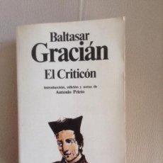 Libros de segunda mano: EL CRITICON BALTASAR GRACIAN. Lote 169282908