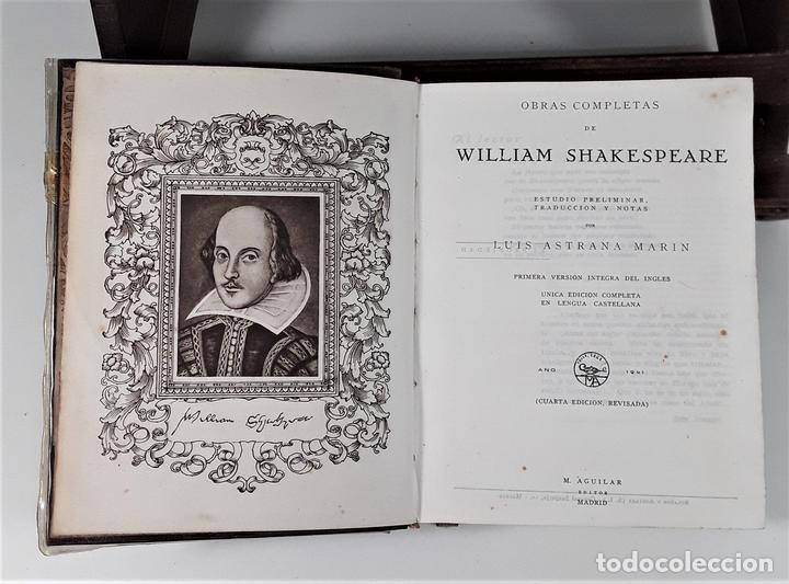 OBRAS COMPLETAS DE WILLIAM SHAKESPEARE. EDIT. AGUILAR. MADRID. 1941. (Libros de Segunda Mano (posteriores a 1936) - Literatura - Narrativa - Clásicos)