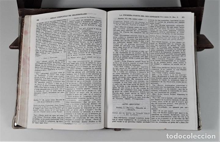 Libros de segunda mano: OBRAS COMPLETAS DE WILLIAM SHAKESPEARE. EDIT. AGUILAR. MADRID. 1941. - Foto 4 - 169653276