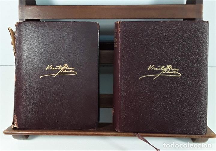 Libros de segunda mano: OBRAS COMPLETAS. V. BLASCO IBAÑEZ. TOMOS I, II Y III. EDIT. AGUILAR. MADRID. 1965/66. - Foto 3 - 169654836