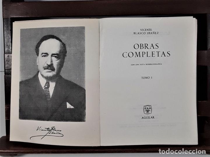 Libros de segunda mano: OBRAS COMPLETAS. V. BLASCO IBAÑEZ. TOMOS I, II Y III. EDIT. AGUILAR. MADRID. 1965/66. - Foto 4 - 169654836