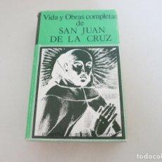 Libros de segunda mano: VIDA Y OBRAS COMPLETAS DE SAN JUAN DE LA CRUZ BIBLIOTECA DE AUTORES CRISTIANOS RELIGION. Lote 169781996