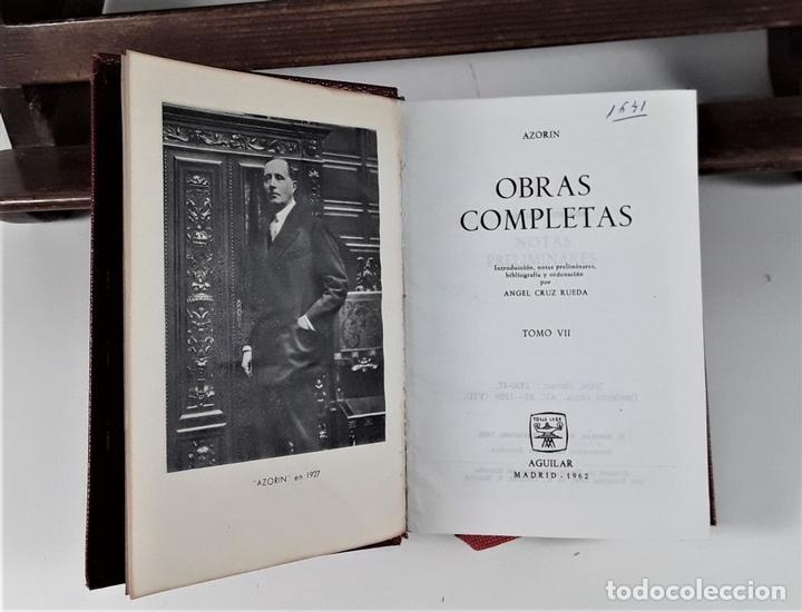 Libros de segunda mano: OBRAS COMPLETAS. AZORIN. TOMO VII. EDICIONES AGUILAR. MADRID. 1962. - Foto 3 - 170245596
