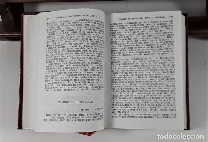 Libros de segunda mano: OBRAS COMPLETAS. AZORIN. TOMO VII. EDICIONES AGUILAR. MADRID. 1962. - Foto 4 - 170245596