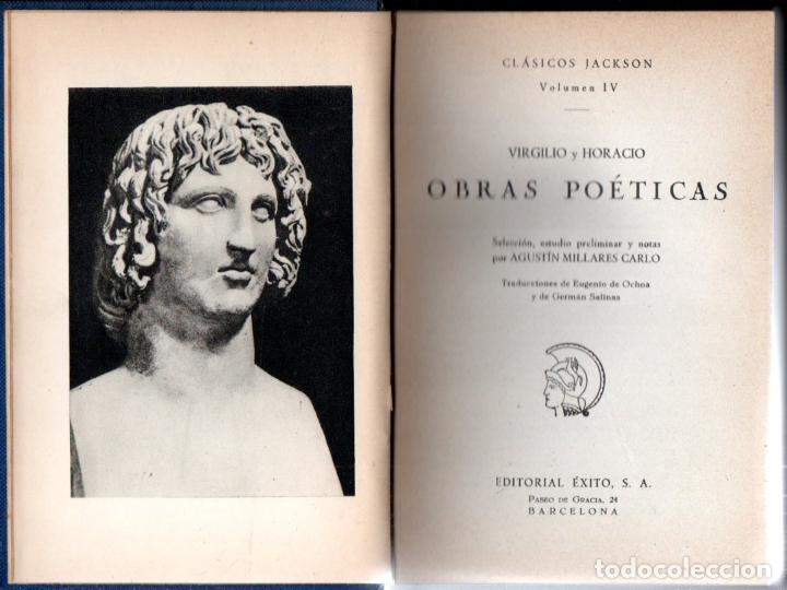 VIRGILIO Y HORACIO : OBRAS POÉTICAS (JACKSON, 1957) (Libros de Segunda Mano (posteriores a 1936) - Literatura - Narrativa - Clásicos)