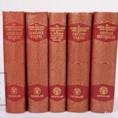 Libros de segunda mano: OBRAS COMPLETAS - SIR ARTHUR CONAN DOYLE - 5 VOLÚMENES - EDITORIAL AGUILAR - AÑOS 1955/1961. Lote 171035283