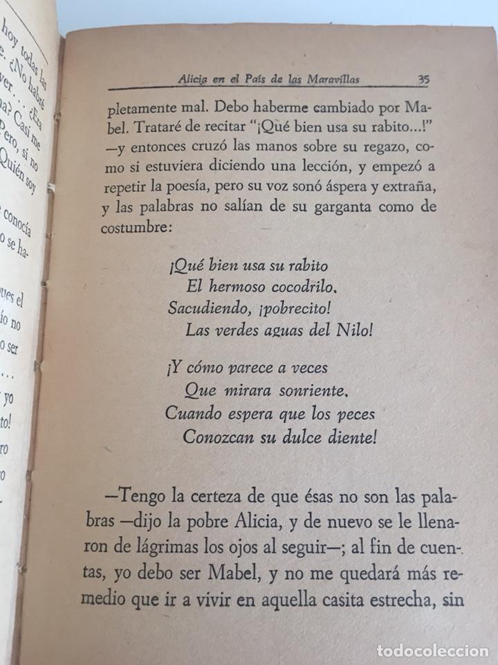 Libros de segunda mano: Alicia en el País de las Maravillas - Lewis Carroll 1949 - RARO EJEMPLAR - Foto 5 - 171083129