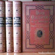 Libros de segunda mano: 1990 - DON QUIJOTE EN TRES TOMOS CON 120 GRANDES COMPOSICIONES A PÁGINA ENTERA DE GUSTAVO DORÉ Y ADE. Lote 171179174
