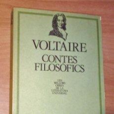Libros de segunda mano: VOLTAIRE - CONTES FILOSÒFICS - EDICIONS 62, 1982. Lote 171082353