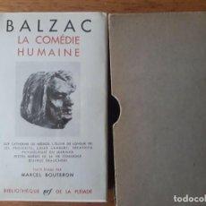 Libros de segunda mano: LA COMÉDIE HUMAINE X ÉTUDES PHILOSOPHIQUES, II ÉTUDES ANALYTIQUES / BALZAC / CON SU ESTUCHE / EDI. . Lote 171475158