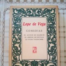 Libros de segunda mano: COMEDIAS - LOPE DE VEGA - (EL ACERO DE MADRID / EL ARENAL DE SEVILLA / LA VIUDA VALENCIANA). Lote 171514712