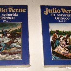 Libros de segunda mano: EL SOBERBIO ORINOCO - JULIO VERNE - 2 TOMOS - ILUSTRADO. Lote 171523873