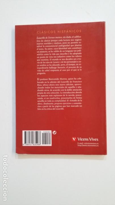 Libros de segunda mano: LAZARILLO DE TORMES. CLASICOS HISPANICOS. VICENS VIVES. EDICION BIENVENIDO MORROS. TDK391 - Foto 2 - 171731730