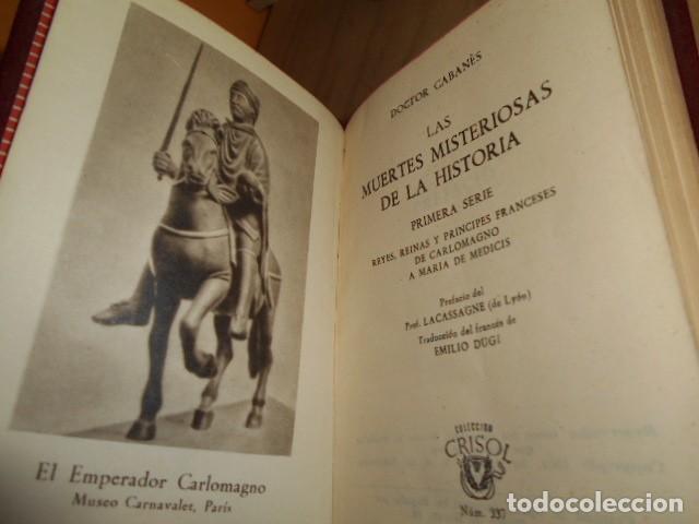 Libros de segunda mano: AGUILAR- Crisol nº 337 Y 338 / LAS MUERTES MISTERIOSAS DE LA HISTORIA / DOCTOR CABANES - Foto 5 - 171782920