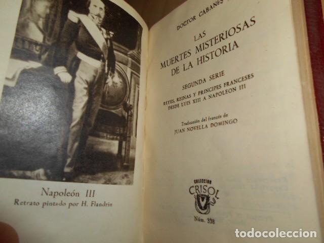 Libros de segunda mano: AGUILAR- Crisol nº 337 Y 338 / LAS MUERTES MISTERIOSAS DE LA HISTORIA / DOCTOR CABANES - Foto 6 - 171782920