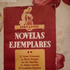 Libros de segunda mano: NOVELAS EJEMPLARES CERVANTES. SOPENA 1962. 171PGS. Lote 172090533