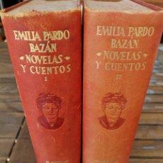 Libros de segunda mano: EMILIA PARDO BAZAN - AGUILAR - OBRAS COMPLETAS 1947 VOLUMEN I Y II. Lote 172385360