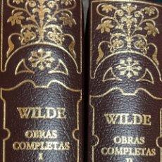 Libros de segunda mano: OSCAR WILDE. OBRAS COMPLETAS. MADRID, 2004. 2 TOMOS. AGUILAR.. Lote 172891785